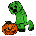 How to Draw Halloween Creeper, Halloween