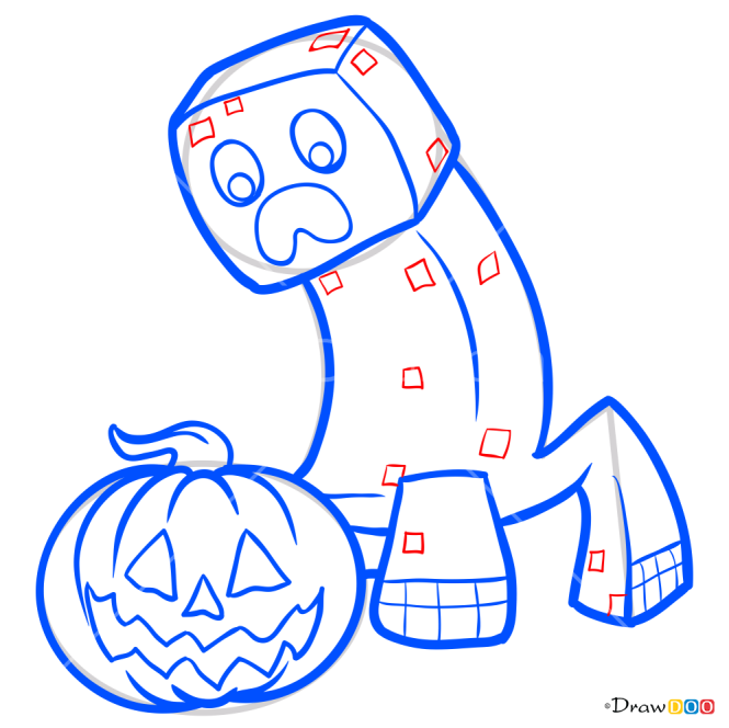 How to Draw Halloween Creeper, Halloween