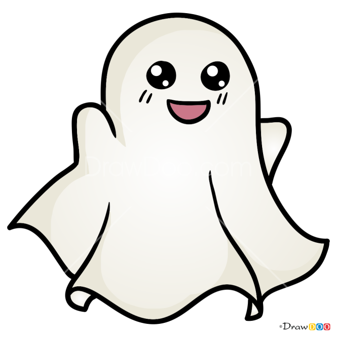 How to Draw Chibi Ghost, Halloween