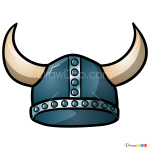 How to Draw Viking Helmet, Hats