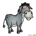 How to Draw Grey Donkey, Hay Day