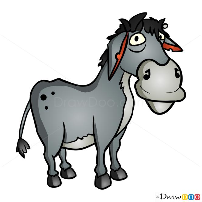 How to Draw Grey Donkey, Hay Day