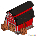 How to Draw Barn, Hay Day