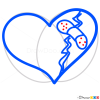 Drawings of Hearts, Step by Step Drawing Lessons