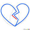 Broken Heart Images, Step by Step Drawing Lessons