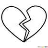 Broken heart images step by step drawing lessons