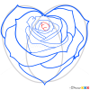 How to Draw Rose Heart, Hearts