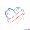 Draw Heart Tattoo, Step by Step Drawing Lessons