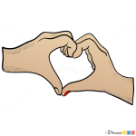 How to Draw Hand Heart, Hearts