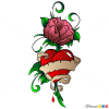 Pictures of Rose Tattoos, Step by Step Drawing Lessons