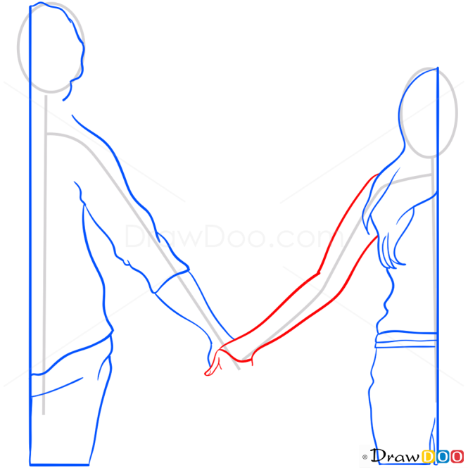How to Draw Couple, Hearts