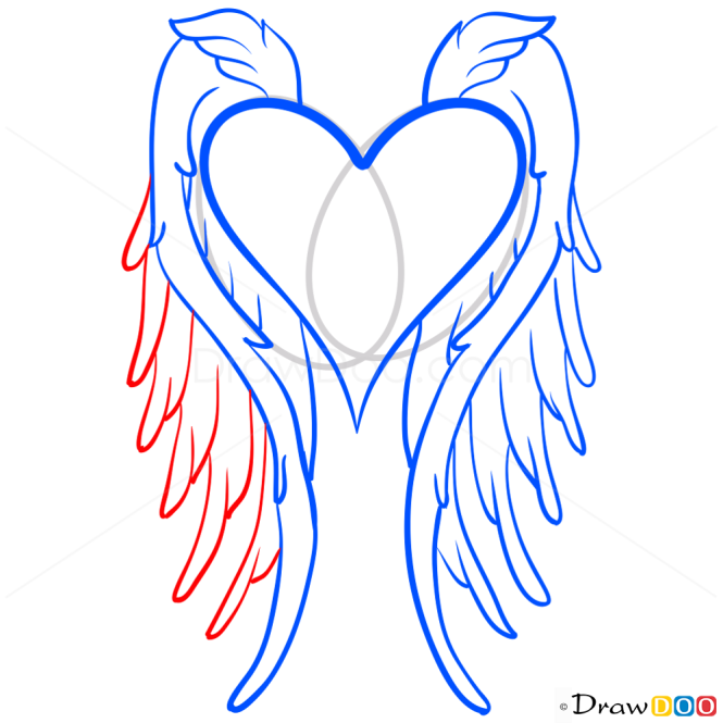 How to Draw Angel Wings, Hearts