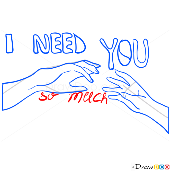 How to Draw I Need You, Hearts