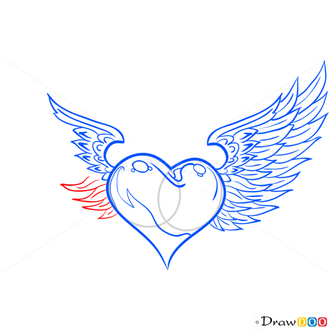 How to Draw Heart with Wings, Hearts