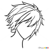 How to Draw Anime Hair Lesson, Step by Step Drawing