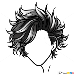 Drawing Hair Lessons, Step by Step Drawing