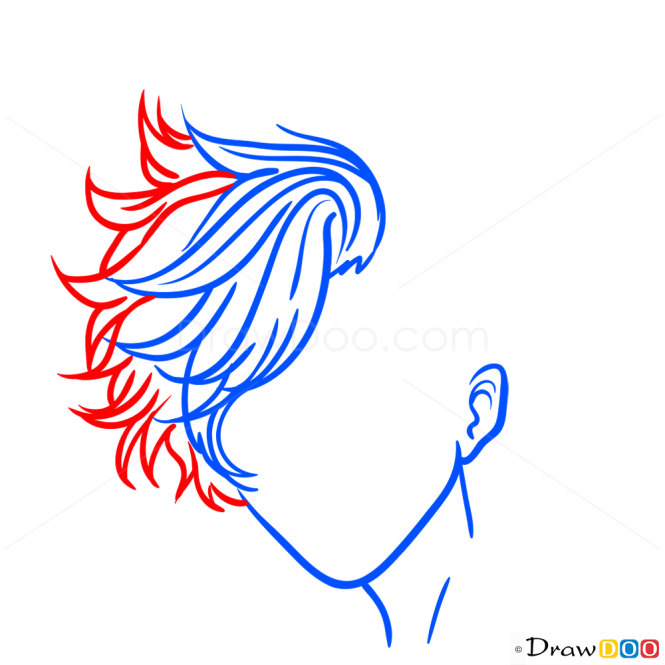 Drawing HairLessons, Step by Step Drawing