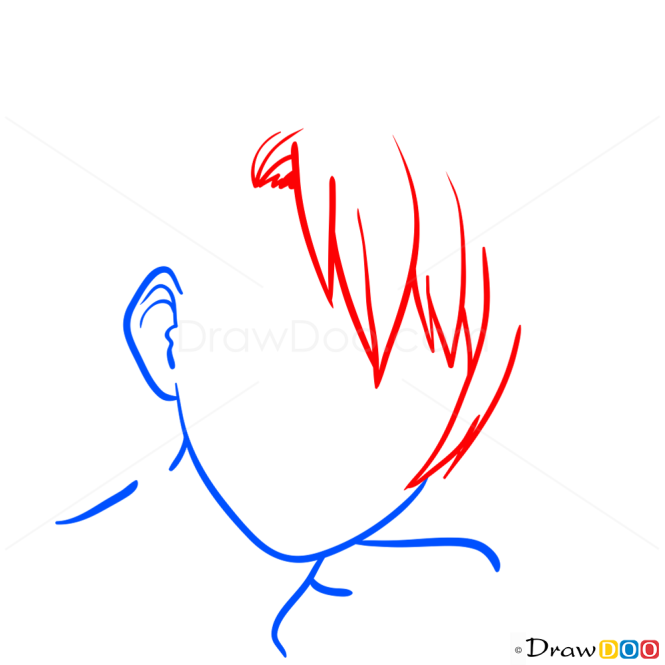 Hairstyle Drawings Lesson, Step by Step Drawing