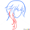 Anime Hair Drawing Lessons, Step by Step Drawing