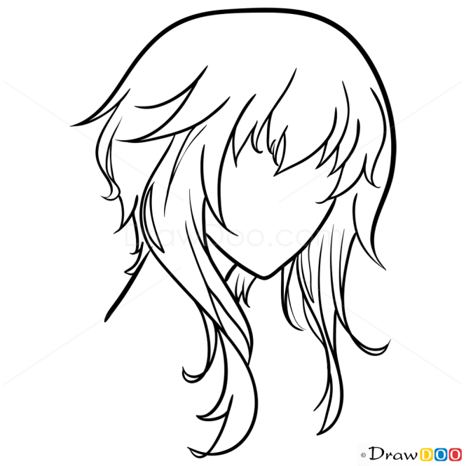 Anime Hair DrawingLessons, Step by Step Drawing