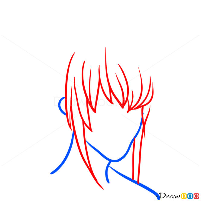 Draw Hair Lesson, Step by Step Drawing