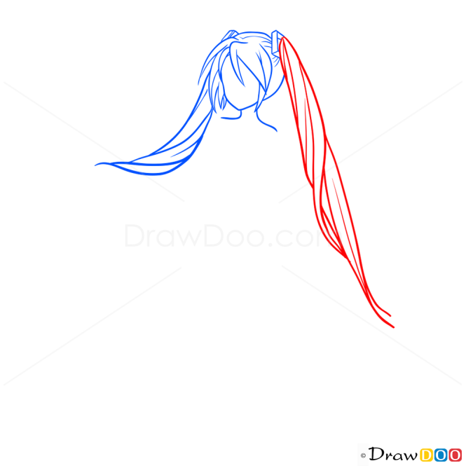 Hair Draw Lesson, Step by Step Drawing