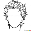 Easy Hair Drawing Lesson, Step by Step Drawing