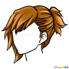 Drawing HairstylesLesson, Step by Step Drawing