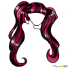 Draw Draculaura Hair Lesson, Step by Step Drawing
