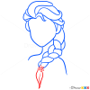 Draw Elsa Hair Lesson, Step by Step Drawing