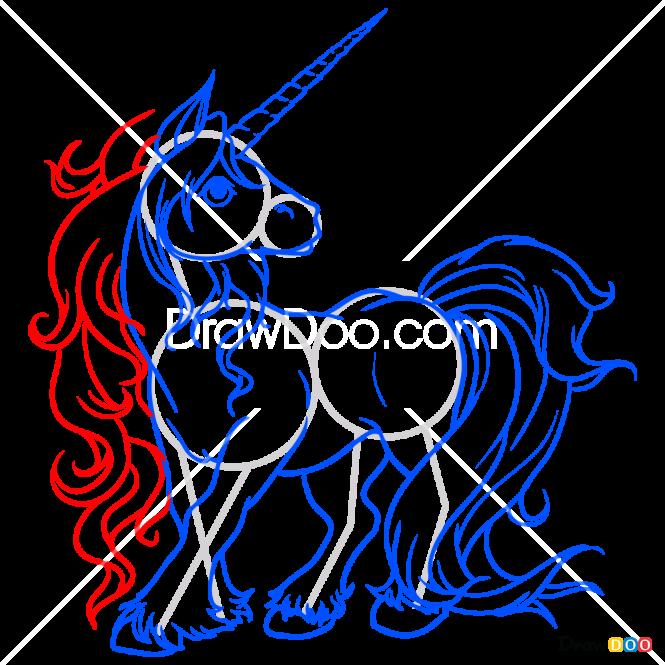 How to Draw Fantasy Unicorn, Horses and Unicorns