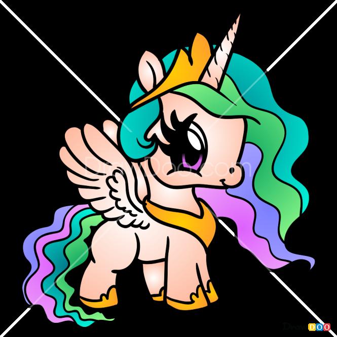 how to draw pretty unicorn horses and unicorns