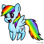 How to Draw Rainbow Pony, Horses and Unicorns