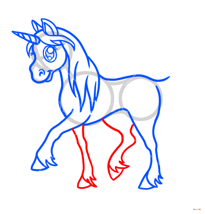 How to Draw Anime Unicorn, Horses and Unicorns