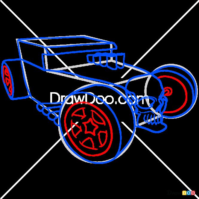 How to Draw Bone Shaker, Hot Wheels