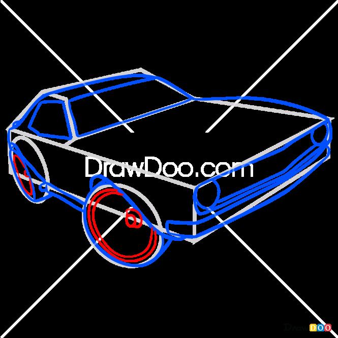 How to Draw Camaro 68, Hot Wheels
