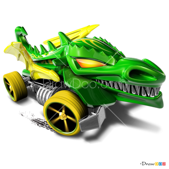 How to Draw Dragon Blaster, Hot Wheels