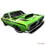 How to Draw Hemi Barracuda, Hot Wheels