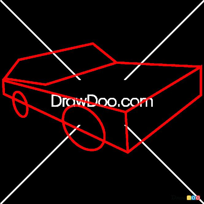 How to Draw Hemi Barracuda, Hot Wheels