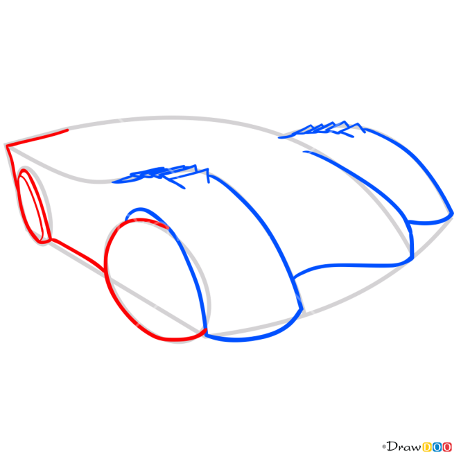 How to Draw Power Pistons, Hot Wheels