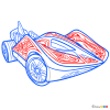 How to Draw Super Stinger, Hot Wheels