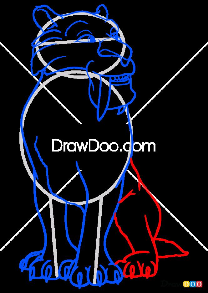 How to Draw Diego, Ice Age