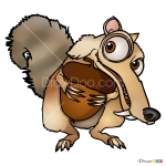 How to Draw Scrat, Ice Age