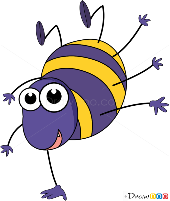 How to Draw Cheerful Beetle, Insects
