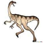 How to Draw Gallimimus, Jurassic Dinosaurs