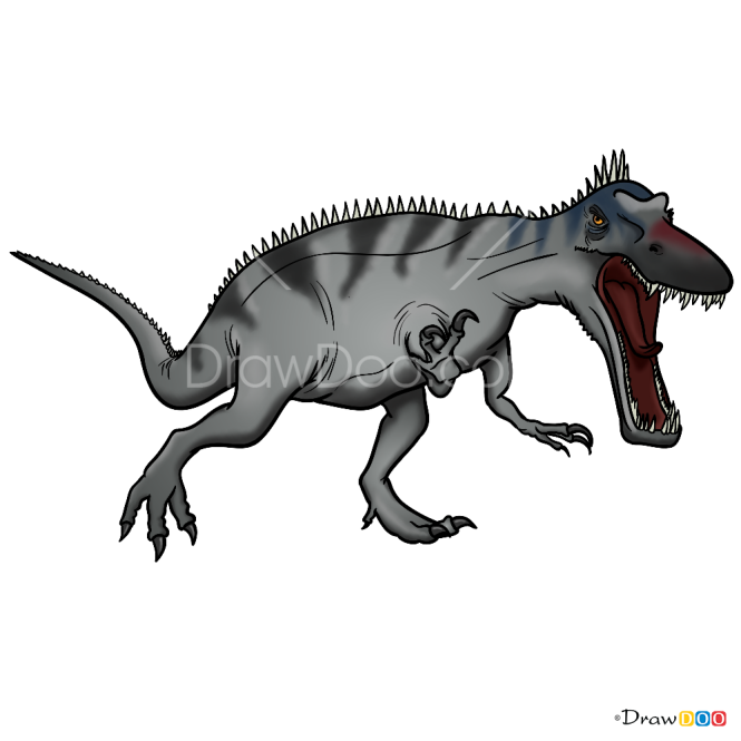 How to Draw Suchomimus, Jurassic Dinosaurs