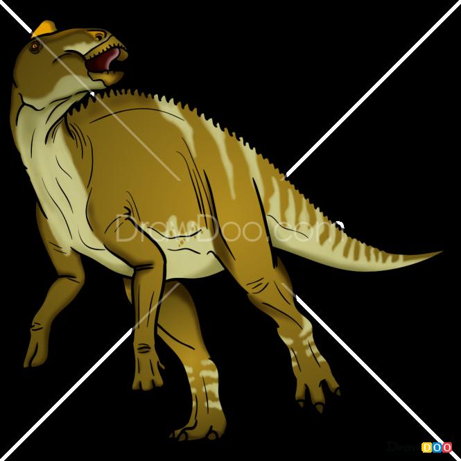 How to Draw Edmonotosaurus, Jurassic Dinosaurs