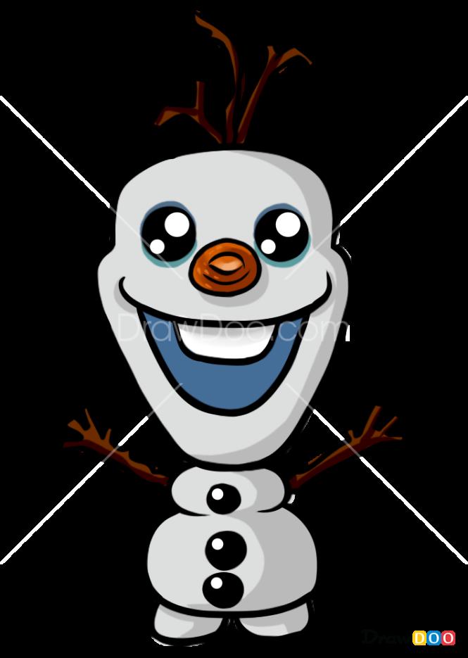 How to Draw Olaf, Kawaii