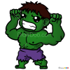 How to Draw Hulk, Kawaii