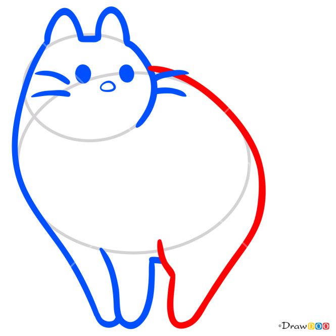 How to Draw Arch Cat, Kawaii
